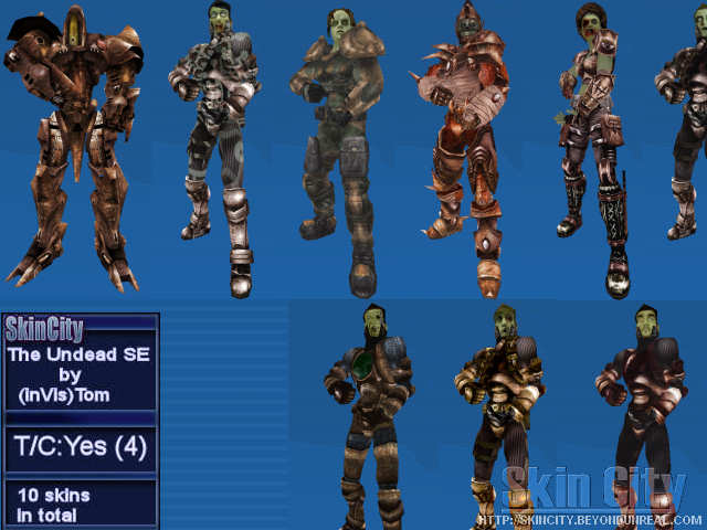 Invis Undead Skin Pack