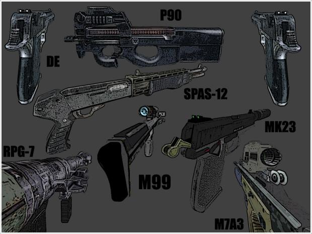 Fische11`s and Jack Carver`s Weapon Pack V5