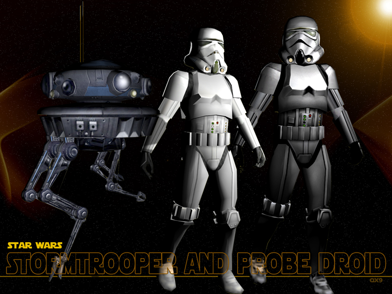 Stormtrooper and droid